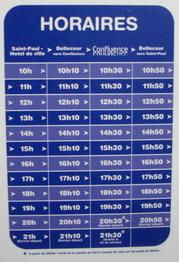 horaire de la nouvelle navette